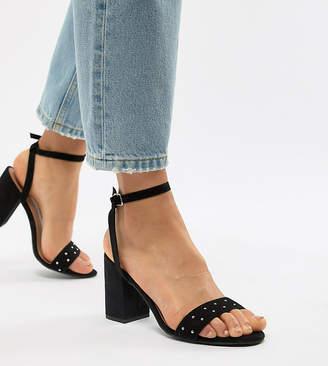 New Look Wide Fit Block Heeled Sandal