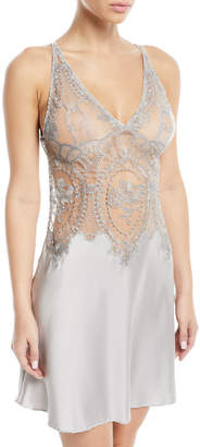 I.D. Sarrieri Coupe de Foundre Silk Lace Chemise Nightgown