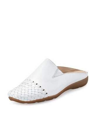 Sesto Meucci Gabor Woven Mule Sneaker, White $275 thestylecure.com