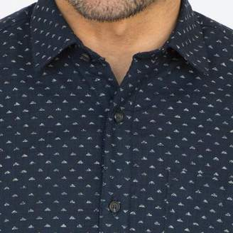 Blade + Blue Japanese Indigo Dyed Triangles Print Shirt - Hamel