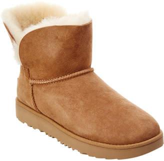 UGG Women's Classic Mini Cuff Water-Resistant Twinface Sheepskin Boot