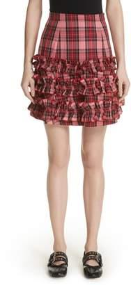 E.m. MOLLY GODDARD Ruffle Tartan Skirt
