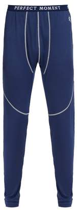 Perfect Moment - Logo Jacquard Performance Leggings - Mens - Navy