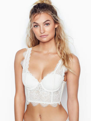 Victoria's Secret Dream Angels Floral Lace Long Line Demi Bra