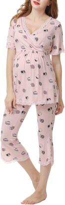 Kimi and Kai Foxy Maternity/Nursing Pajamas