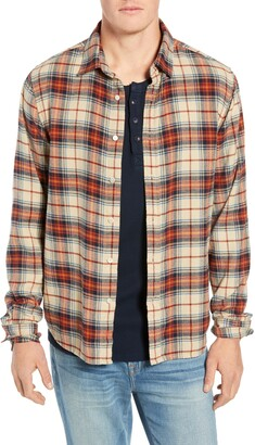 e5a112402 Frame Slim Fit No-Pocket Plaid Sport Shirt