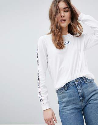 Lee Logo Tape Long Sleeve T Shirt