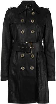 Patrizia Pepe snake-effect trench coat