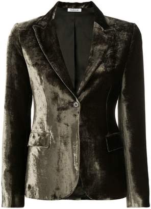 P.A.R.O.S.H. velvet fitted blazer