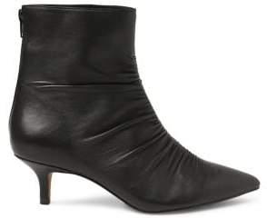 Kensie Devon Ruched Leather Booties