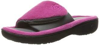 Isotoner Women's Adjustable Memory Foam with Smartdri Slide Slipper
