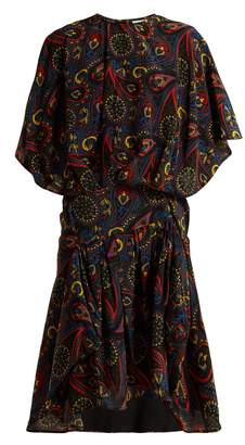 J.W.Anderson Paisley-print handkerchief-hem silk dress