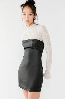 Motel Brandy Faux-Leather Tube Dress
