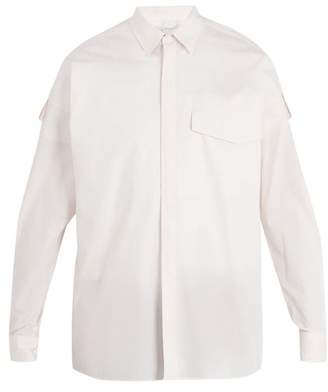 Stella Mccartney - Point Collar Checked Cotton Shirt - Mens - White Multi