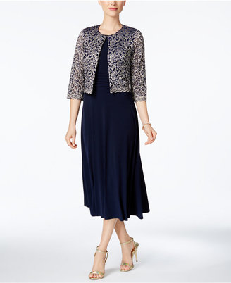 Jessica Howard Midi Dress & Lace Jacket $109 thestylecure.com