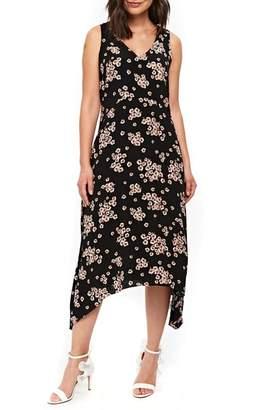 Wallis Daisy Hanky Hem Midi Dress