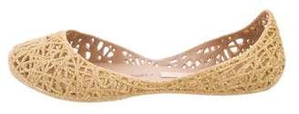 Mini Melissa Girls' Rubber Gold-Accented Flats