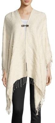 The Kooples Solid Tassel Detailed Poncho $295 thestylecure.com
