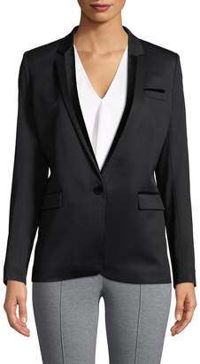 The Kooples Women's Stretch Smoking Wool Blazer