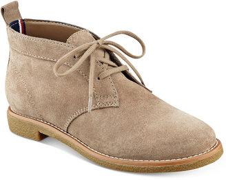 Tommy Hilfiger Blaze Lace-Up Oxford Booties $99 thestylecure.com