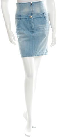 ChanelChanel 2016 Denim Mini Skirt w/ Tags