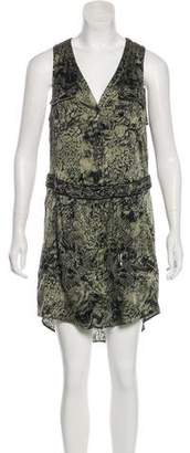Haute Hippie Silk Knee-Length Dress