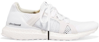 Adidas by Stella McCartney - Ultra Boost Mesh Sneakers - White $230 thestylecure.com