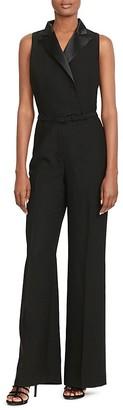 Lauren Ralph Lauren Sleeveless Tuxedo Jumpsuit - 100% Bloomingdale's Exclusive $298 thestylecure.com