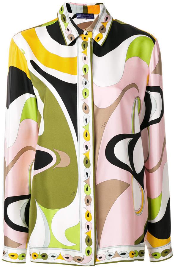 Emilio Pucci psychedelic print blouse