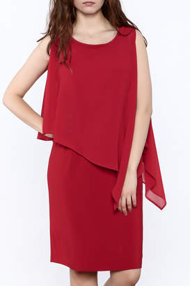 Picadilly Scarlet Red Knee Dress