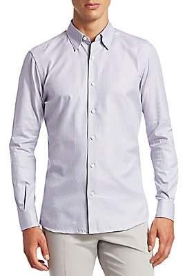 Ermenegildo Zegna Men's Houndstooth Button-Down Shirt