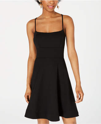 0fd28139d2ab B. Darlin Juniors' Lace-Up Open-Back Fit & Flare Dress