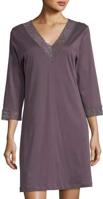 Hanro Moments Lace-Trim Sleepshirt