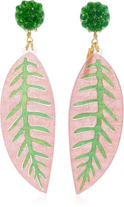 Mercedes Salazar Alocacia Rosa Earrings