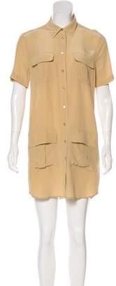 Equipment Button-Up Mini Dress