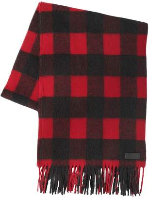 DSQUARED2 Check Wool & Alpaca Blend Scarf