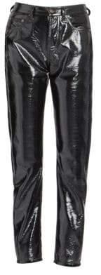 Saint Laurent Patent Denim Pants