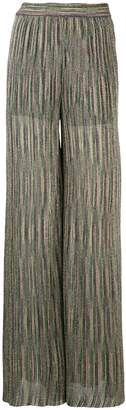 M Missoni metallic sheen trousers