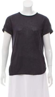 Vince Silk-Blend Short-Sleeve Top