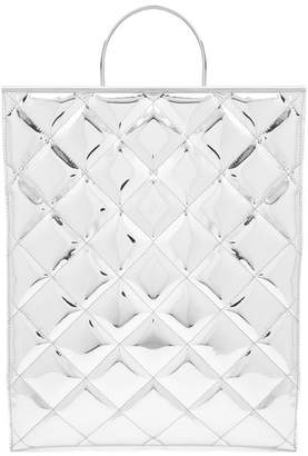 Marques'almeida - Quilted Tote Bag - Womens - Silver