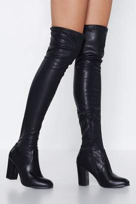 Nasty Gal Room Service Over-the-Knee Boot