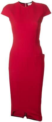 Victoria Beckham curve hem fitted dress