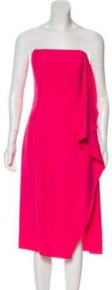 Halston Strapless Evening Dress