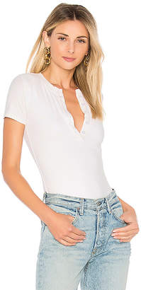 by the way. Melina Rib Henley Bodysuit