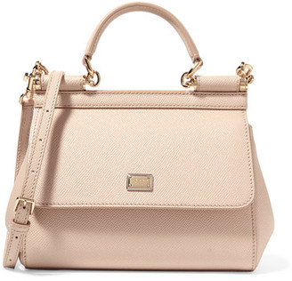Dolce & Gabbana - Sicily Small Textured-leather Tote - Blush $1,495 thestylecure.com