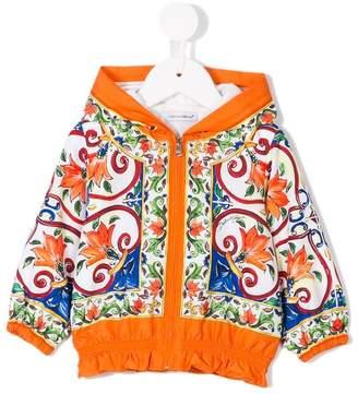 Dolce & Gabbana majolica-print zip-up hoodie