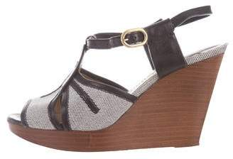 Chloé Woven Ankle-Strap Wedges