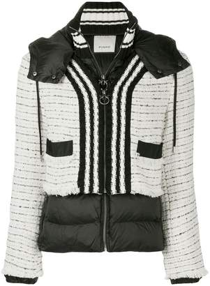 Pinko tweed panel padded jacket