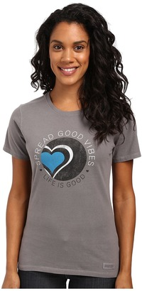 Life is good Spread Good Vibes Heart Crusher Tee $26 thestylecure.com