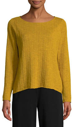 Eileen Fisher Organic Linen Knit Top